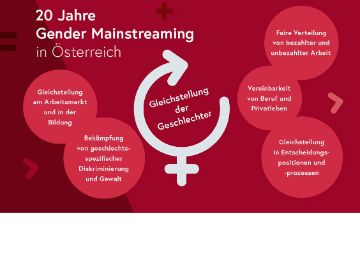 Poster 20 Jahre Gender Mainstreaming